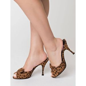 Pin Up Couture Retro Style Peep Toe Bow Heels